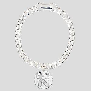I Wear White for my Mom Charm Bracelet, One Charm