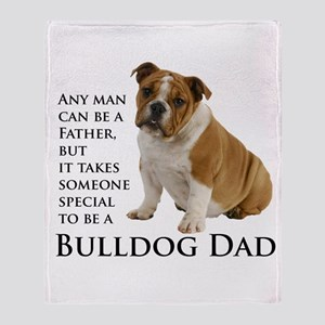 Bulldog Dad Throw Blanket