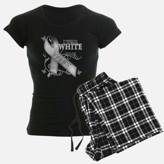 I Wear White for my Wife Pajamas