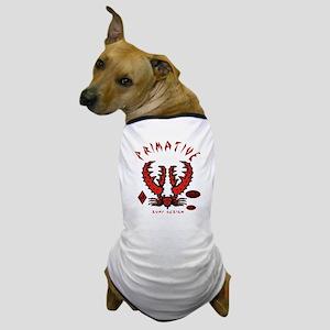 CRAB RED ON BLACK Dog T-Shirt