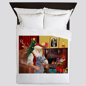 Santa's Scottish Deerhound Queen Duvet
