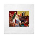 Santa's Scottish Deerhound Queen Duvet