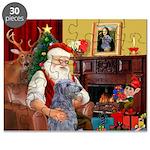 Santa's Scottish Deerhound Puzzle