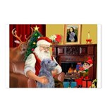 Santa's Scottish Deerhound Postcards (Package of 8