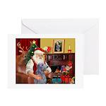 Santa's Scottish Deerhound Greeting Card