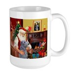 Santa's Scottish Deerhound Large Mug