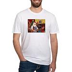 Santa's Scottish Deerhound Fitted T-Shirt
