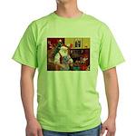 Santa's Scottish Deerhound Green T-Shirt