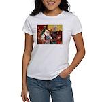 Santa's Scottish Deerhound Women's T-Shirt