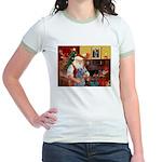 Santa's Scottish Deerhound Jr. Ringer T-Shirt