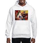 Santa's Scottish Deerhound Hooded Sweatshirt