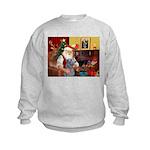 Santa's Scottish Deerhound Kids Sweatshirt
