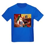 Santa's Scottish Deerhound Kids Dark T-Shirt