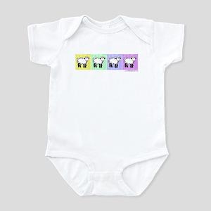 Wobbly Lamb Row Pop Art Infant Bodysuit