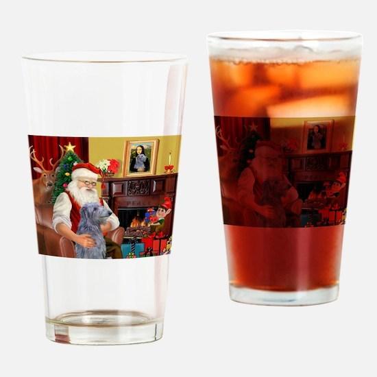 Santa's Scottish Deerhound Drinking Glass