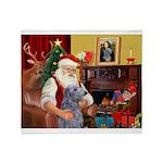 Santa's Scottish Deerhound Throw Blanket
