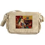 Santa's Scottish Deerhound Messenger Bag