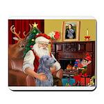 Santa's Scottish Deerhound Mousepad