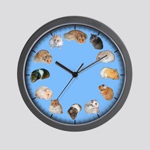 Hamsters Around the Clock Wall Clock