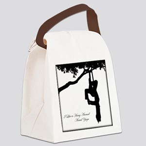 I like to hang around Aerial Yoga Canvas Lunch Bag