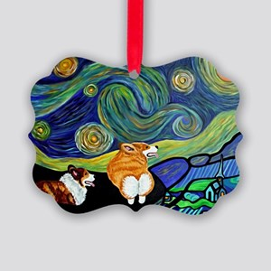 Corgi Starry Starry Night Ornament