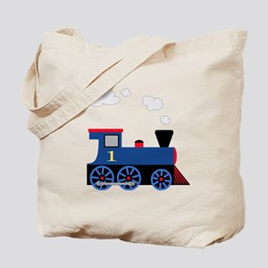train age 1 blue black Tote Bag