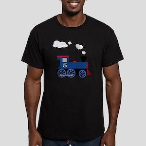 train age 5 blue black Men's Fitted T-Shirt (dark)