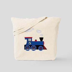 train age 5 blue black Tote Bag