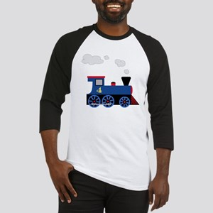 train age 4 blue black Baseball Jersey