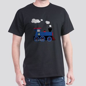 train age 4 blue black Dark T-Shirt