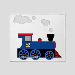 train age 2 blue black Throw Blanket