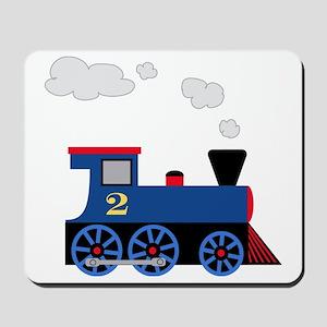 train age 2 blue black Mousepad