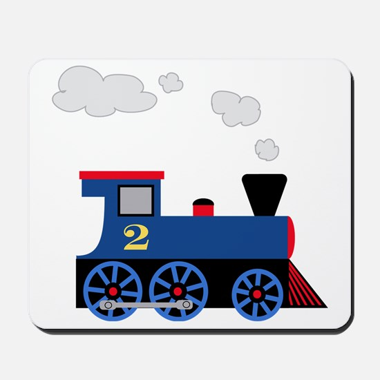 train age 2 blue black Mousepad