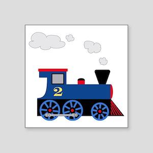 """train age 2 blue black Square Sticker 3"""" x 3"""""""