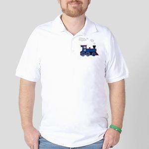 train age 2 blue black Golf Shirt