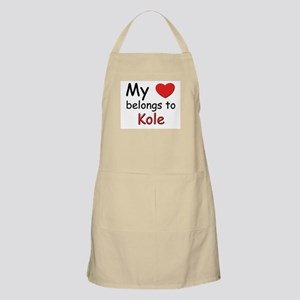 My heart belongs to kole BBQ Apron