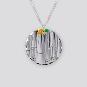 lesbianlipstick Necklace Circle Charm