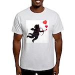 Cupid Love Hearts Ash Grey T-Shirt Valentine's Day