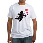 Valentine's Fitted T-Shirt Cupid Love Gifts