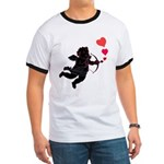 Valentine's Ringer T Shirt Cupid Love Hearts Gifts
