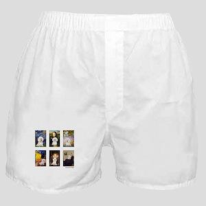 FamousArt-BichonFrise-CLEAR Boxer Shorts