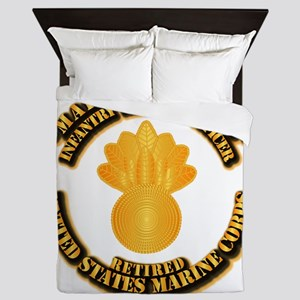 USMC - Marine Gunner - Retired Queen Duvet