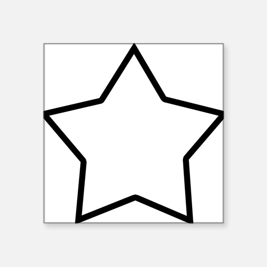 "star-shrock Square Sticker 3"" x 3"""