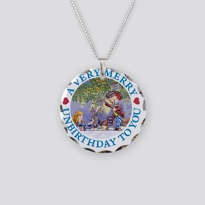 ALICE MAD HATTER UNBIRTHDAY_ Necklace Circle Charm