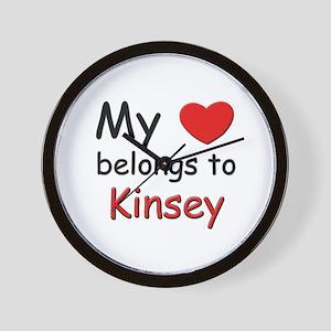 My heart belongs to kinsey Wall Clock