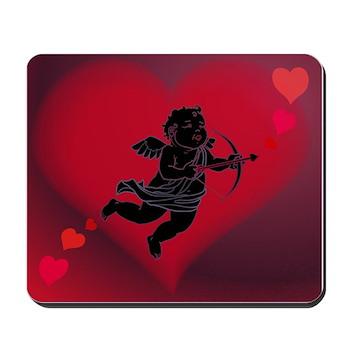 Valentines Cupid Love Hearts Mousepad