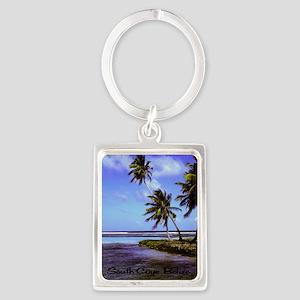 South Caye Belize 2.91x4.58 Portrait Keychain
