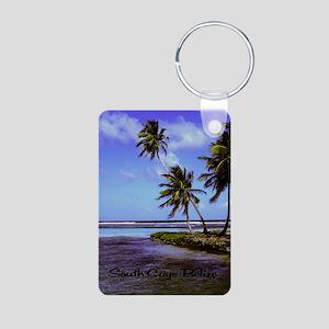 South Caye Belize 2.91x4.5 Aluminum Photo Keychain