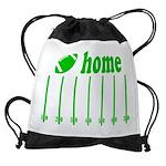 Home is a Football Field Drawstring Bag