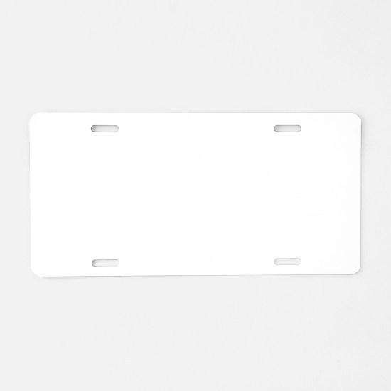 3-Duathlete_women-white Aluminum License Plate